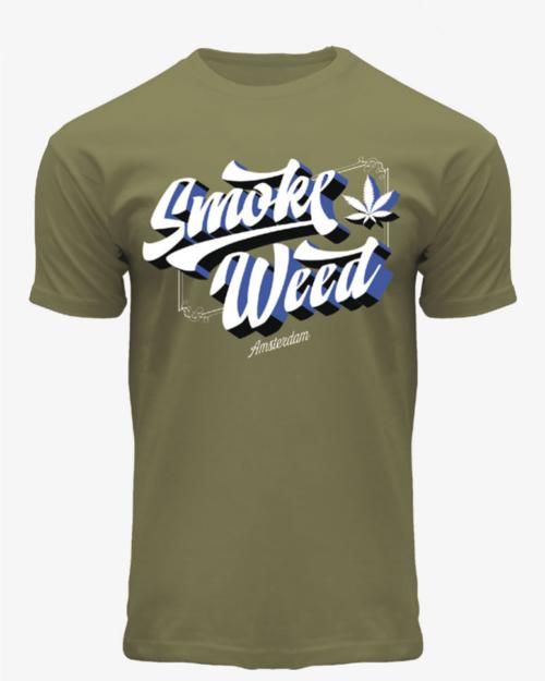 3D Weed Smoke T-Shirt