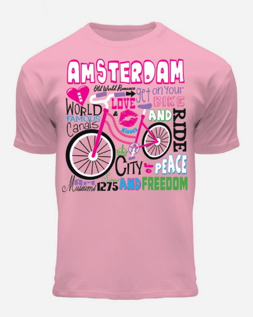 Pink Amsterdam Kids T-Shirt