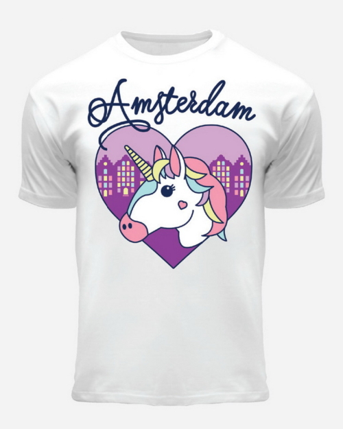 Amsterdam Unicorn T-Shirt White