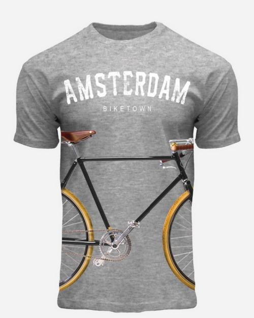 Big Fixie BikeTown T-Shirt Grey