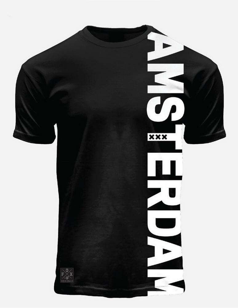 Vertical White Amsterdam T-Shirt