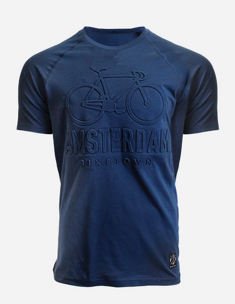 Embossed BikeTown T-Shirt Blue