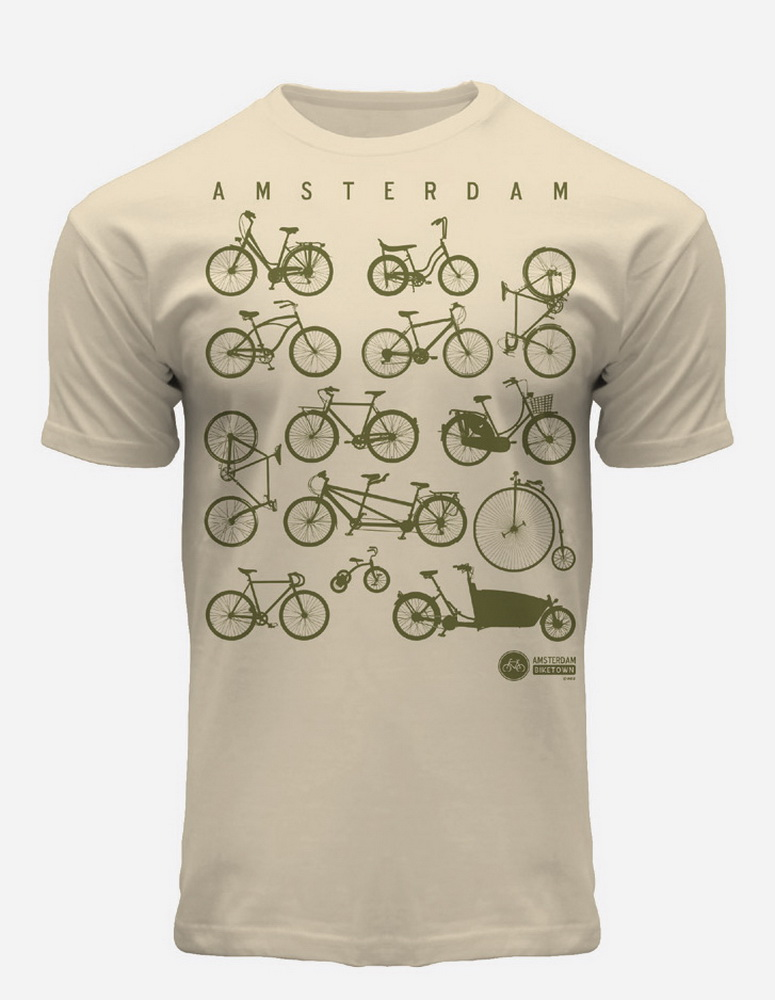 this is a picture of Bike Crazy Amsterdam T-Shirt