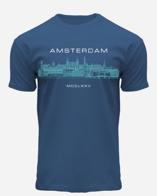 Skyline Amsterdam Roman Numerals