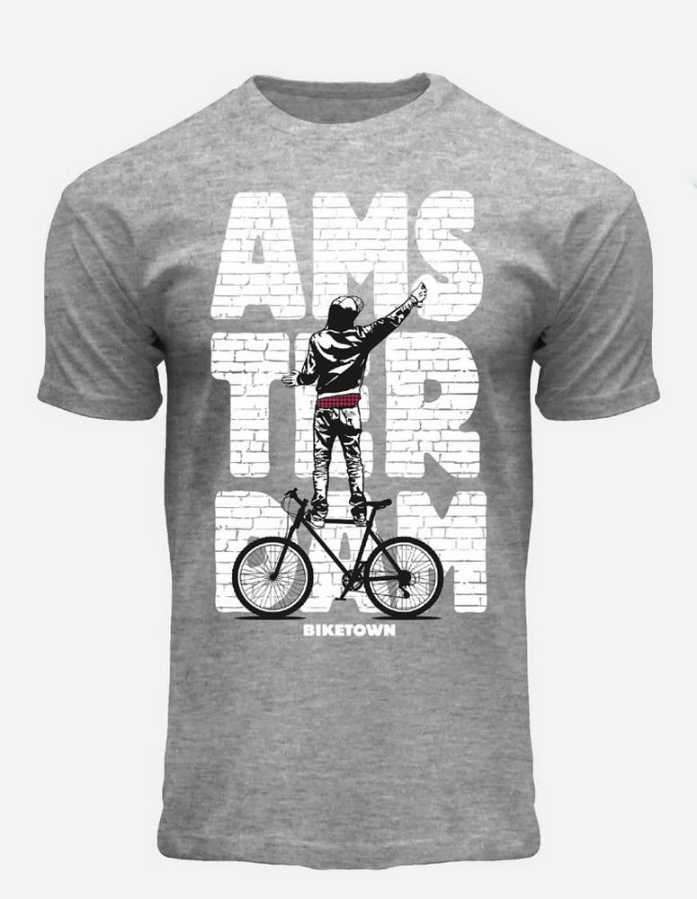 this is Brickwall Graffiti Amsterdam T-Shirt