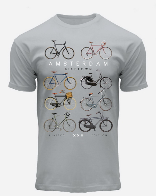 this is a picture of Eight Bicycles Amsterdam T-Shirt