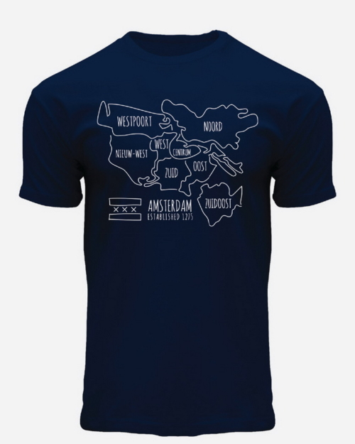 this is an image of City District Amsterdam T-Shirt