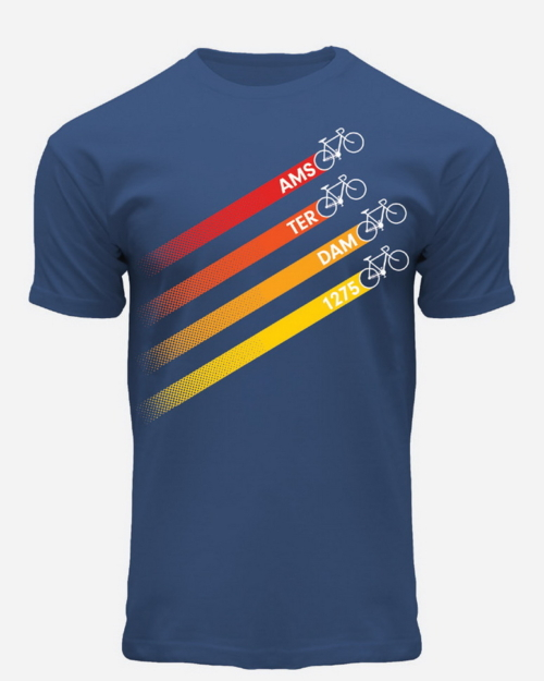 this is a picture of Four Bicycles Amsterdam T-Shirt