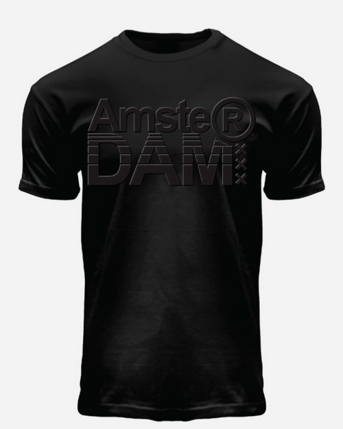 this is a picture of a Embossed AmsterDAM T-Shirt