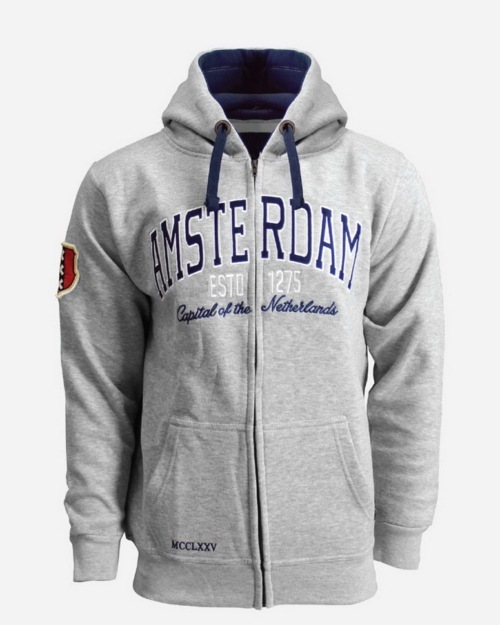 this is a College Style Zipped Hoodie