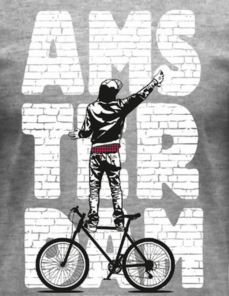 Brickwall Graffiti Amsterdam T-Shirt