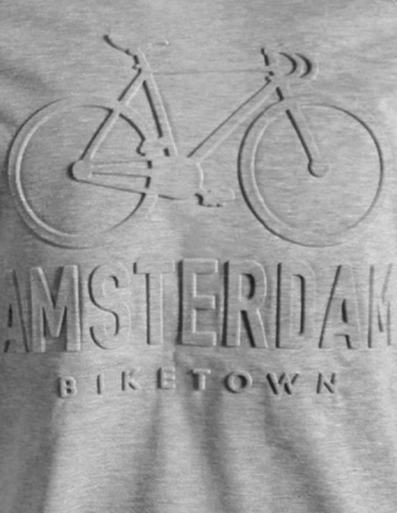 Embossed BikeTown T-Shirt Grey