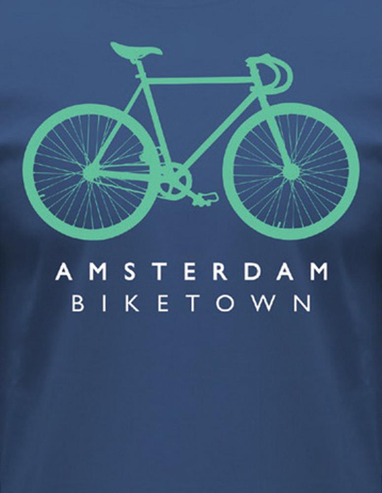 Fixie Biketown T-Shirt Blue