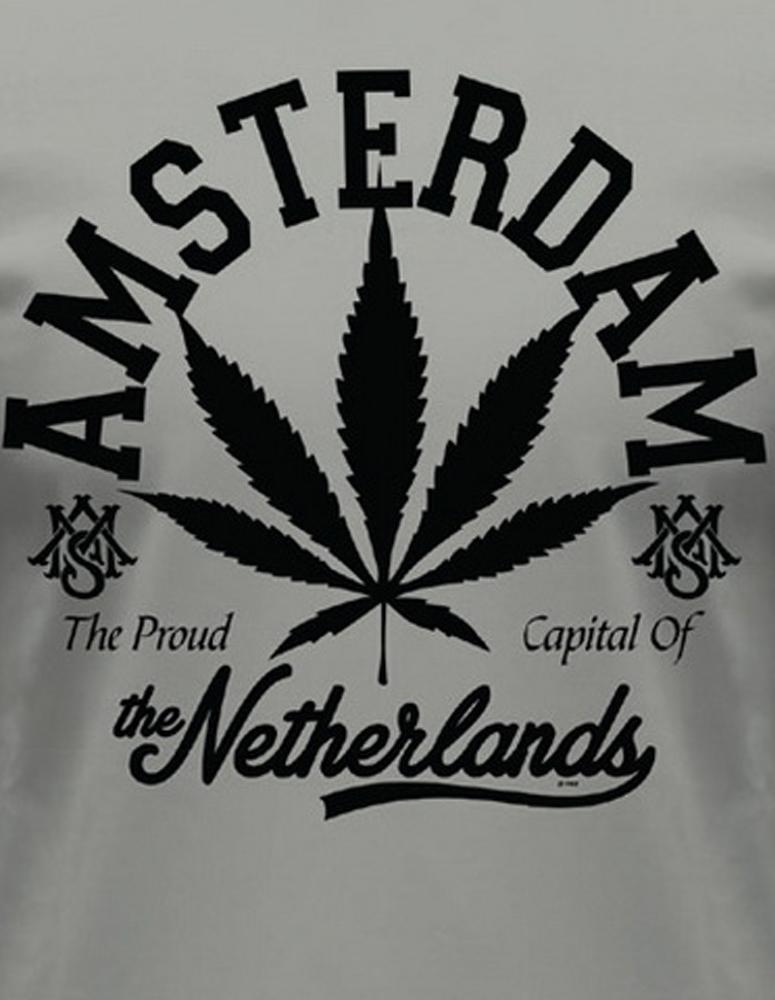 Amsterdam Black Leaf T-Shirt