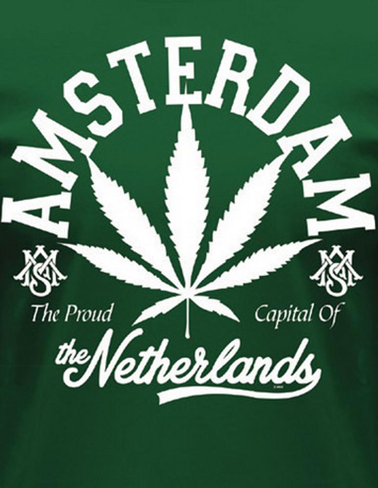 Amsterdam White Leaf T-Shirt