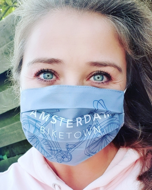 Amsterdam Bike Town Face Mask