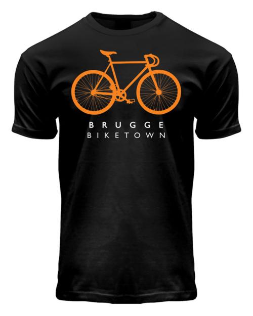 Brugge Biketown T-Shirt Black