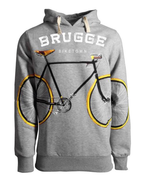 Brugge BikeTown Hoodie Grey