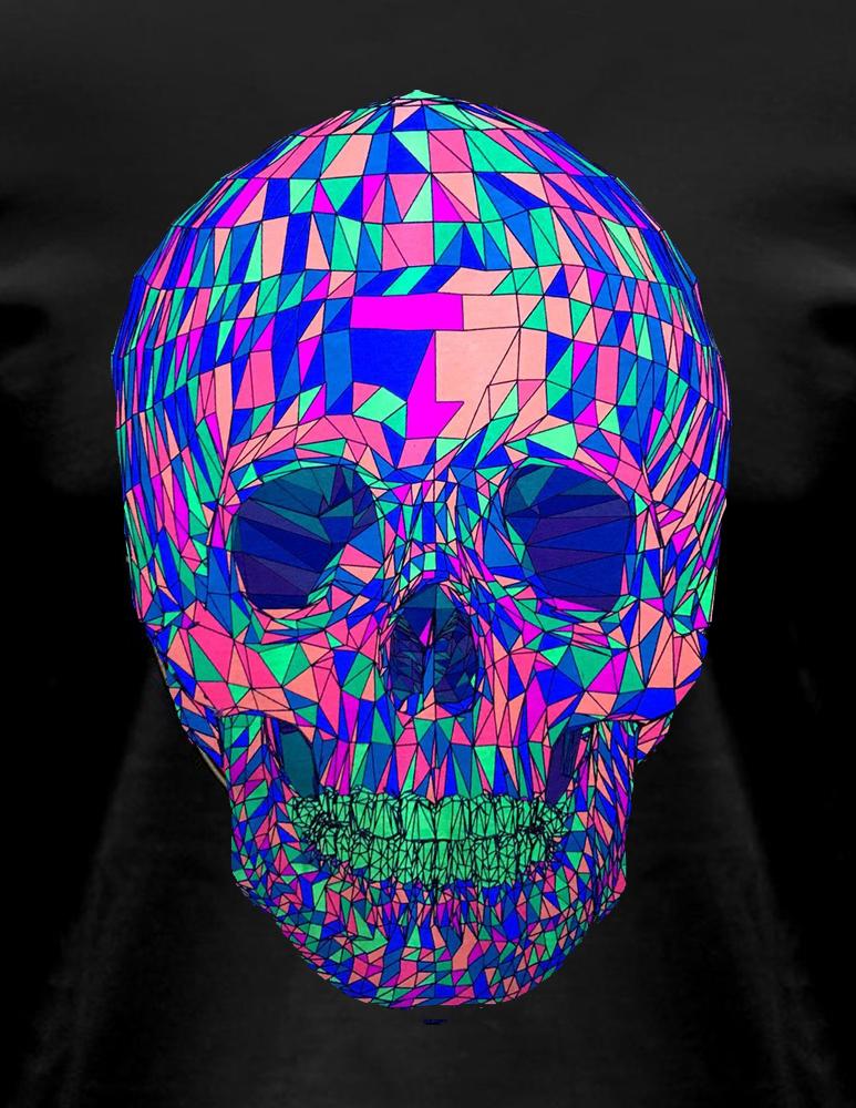 Polygone Skull T-Shirt