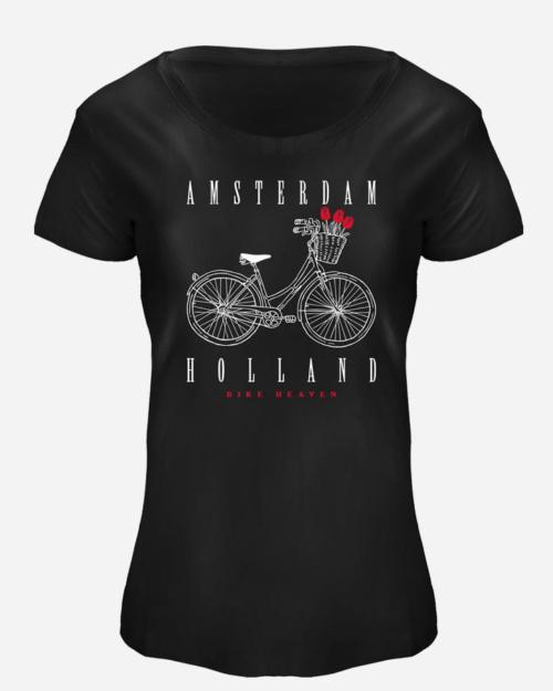 White Amsterdam Bike T-shirt